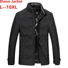 10XL 8XL 2019 Winter Jacket Men High Quality Thermal Thick Coat Snow Parka Male Warm Outwear Men Fashion White Duck Dow Jacket(China)