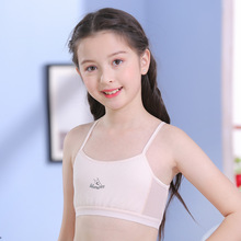 Tops For Girls Puberty Teen Bra 10-14years Teenager Sports Candy Color Breath Cotton Underwear
