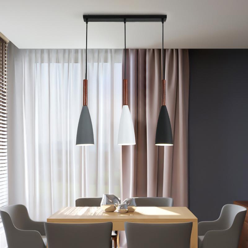 Moderne 3 pendentif éclairage nordique minimaliste pendentif lumières sur Table à manger cuisine île suspendus lampes salle à manger lumières E27 - 5