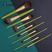 Maange pro 10/11/15 pçs pincéis de maquiagem conjunto pó fundação sombra compõem escovas conjunto escovas cosméticos macio cabelo sintético