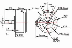 Sensor lineal de desplazamiento angular de plástico conductivo WDD35D4 WDY35D4 1K 2K 5K 10K 0.1%