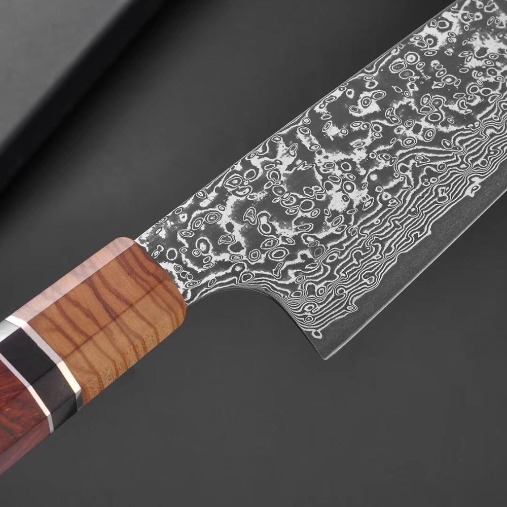 Japanese  Octangle Handle Kiritsuke  Multi-purpose Chef Knife Damascus Steel Kitchen Knife Chefmesser  Professional Cuisine