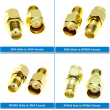 1X Pcs Kit Set RP-SMA RP SMA To RPSMA SMA Male & Female Push-On Quick Directly Plug Socket Brass Straight Coaxial RF Adapters