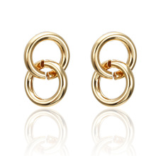 Round Vintage Earrings for Women of Gold Fashion Jewelry Declaration 2019 Modern