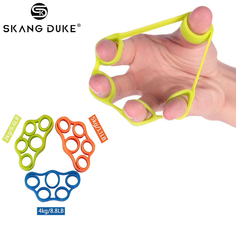 1PC Finger Hand Grip 3kg-5kg Silicone Strength Trainer Ring Gripper Expander Finger Workout Fitness Training Power Hand Grips(China)