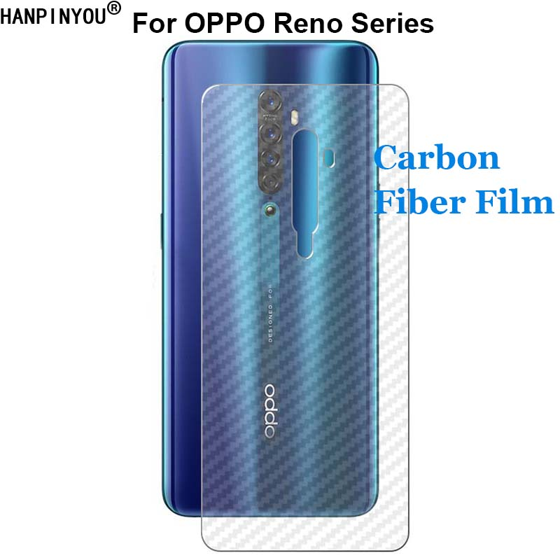 For OPPO Reno Reno2 A Z ACE 3 3Pro Realme X2 Pro Durable 3D Anti-fingerprint Carbon Fiber Back Film Screen Protector (Not Glass)