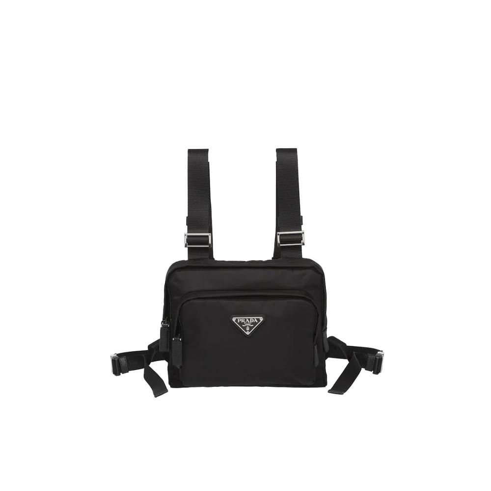 Men's Fashion Waist Packs Prada Nylon Harness Bag Belt Bag Male Chest Phone Pouch 2VL014_973_F0002_V_OOO