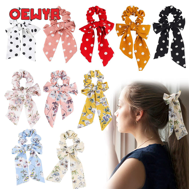 Korean Style Butterflies Headbands For Women Ties For Hair Boho Elastics Hair Accessories Woman Accesories Wholesale Scrunchie
