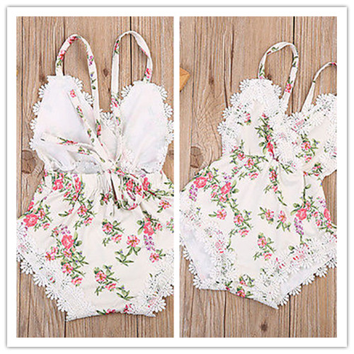 Newborn Baby Girl Backless Jumpsuit Outfits Sunsuit Clothes