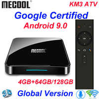 Mecool KM3 TV Box Android 9.0 Google Certificato Androidtv Amlogic S905X2 4G 64G KM9 Pro 2/16G 4/32G 4K Wifi Smart TV Box H96 max