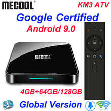 Mecool KM3 TV Box Android 9.0 Google Certified Androidtv Amlogic S905X2 4G 64G KM9 Pro 2/16G 4/32G 4K Wifi Smart TV Box H96 max - DISCOUNT ITEM  36% OFF All Category