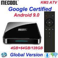Mecool KM3 TV Box Android 9,0 Google certificado Androidtv Amlogic S905X2 4G 64G KM9 Pro 2/16G 4/32G 4K Wifi Dispositivo de TV inteligente H96.