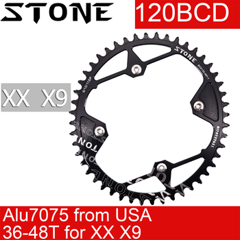Stone Chainring for XX X9 120 BCD Oval 36t 38T 40T 44 46T 48T road MTB Bike Chainwheel 120bcd for sram tooth plate image