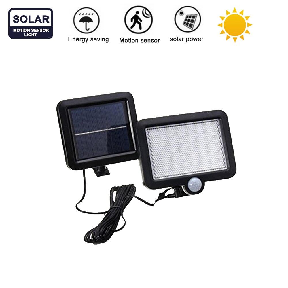 56/30 Leds Solar Light With 7 Color Remote Control Waterproof Motion Sensor Lamp Lights For Outdoor Garden Street Lights Split M