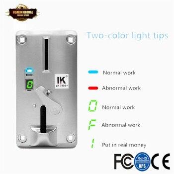 Selector de monedas LK 799s +, para la entrada frontal, para comparición de moneda única