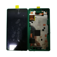 New Working LCD Display+Touch Screen For Sony Xperia Z3 Mini Compact  LCD Display with frame 100%Tested original 4 6 lcd for sony xperia z3 compact display touch screen with frame z3 mini d5803 d5833 for sony xperia z3 compact lcd