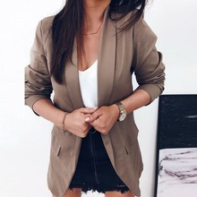 Women Autumn Slim Blazers Coats Female Work Office Lady Suit