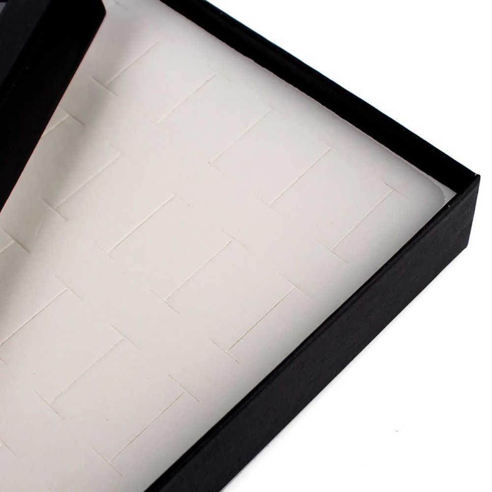 موضة شفاف 36-فتحة حلقة عرض حامل معدن حلَق أذن حامل Bijoux صندوق تخزين منظم بيئي معرض مجوهرات
