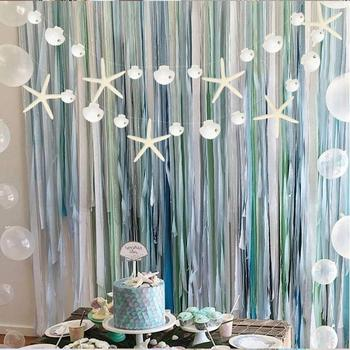 Summer Starfish Seashell Garlands Dreamed Bubble Dots Hanging Under The Sea Themed Mermaid 1st Birthday Beach Baby Shower Decor