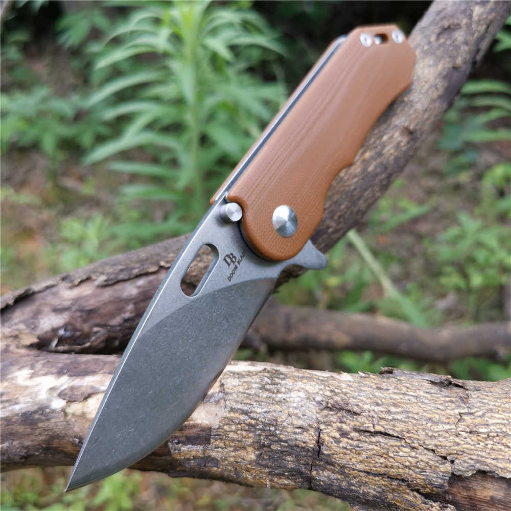 D2 high quality outdoor survival tool knife, camping, fishing, barbecue cutting folding knife, survival knife