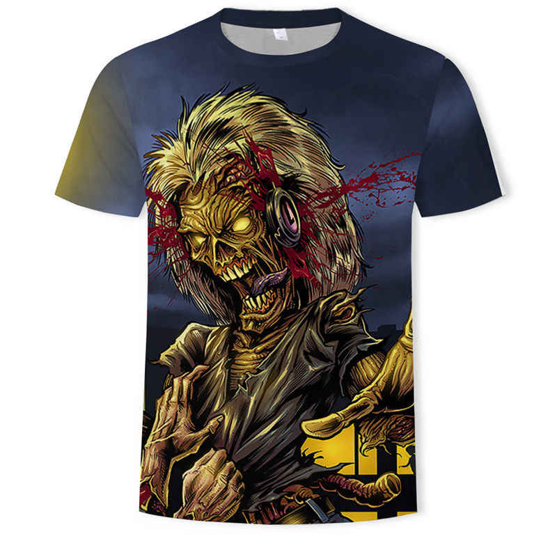 AC DC Heavy Metal Music Cool Classic Rock Band Skull head t-shirts Fashion Rocksir T Shirt Men 3D T-Shirt DJ Tshirt Men's Shirt