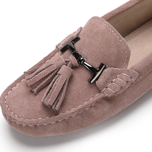 Image 5 - High Quality Women Shoes 100% Genuine Leather Flats Women Causal Shoes Womens Loafers Spring Autumn Driving shoes