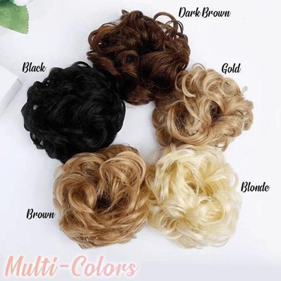 Пучок волос кудрявый Dount Updo синтетические Scruchies эластичный зажим в шиньон для наращивания шиньон аксессуары для волос Термостойкое волокно