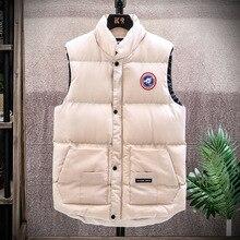 2021 New Men's Down Jacket Casual Vest Winter Warm Down Cotton Jacket Men's Sports Vest Sleeveless Vest Large Size 4XL