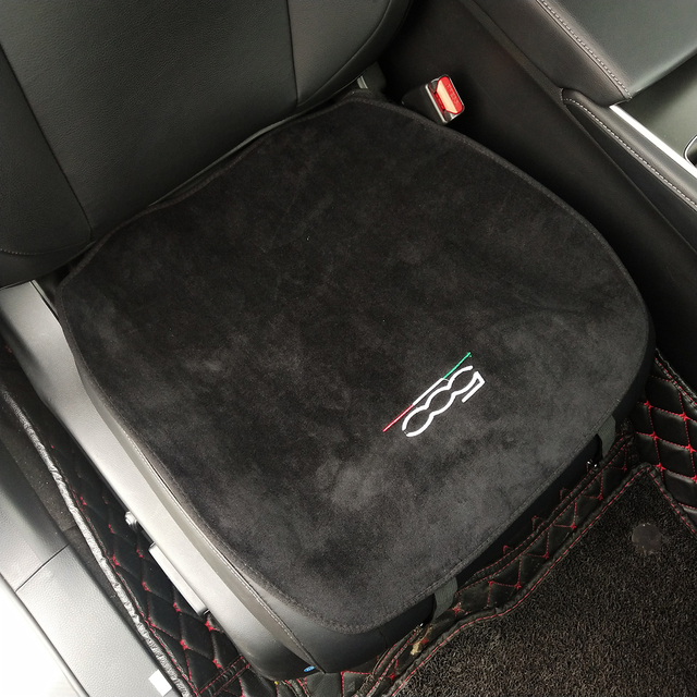 Car Soft Plush Seat Cushion Warm Winter Pad Mat Auto Interior Accessories for Fiat 500 500L Abarth 595 competizione car styling 3