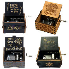 NEW Music Box QUEEN LOVE DAD And LOVE MAM My Sun Theme Music Antique Carved Wooden Hand Crank Mom and Dad Gifts Birthday Gift слюнявчик printio i love mom and dad