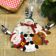 New Arrival Decoration Creative Home Party Fork Set Hat Kitchen Storage Tool Christmas Bag Hot Sell 2019(China)