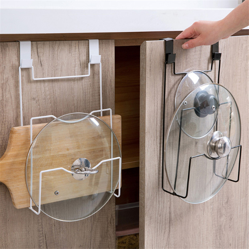 Kitchen Organizer Towel Pot Rack Hanging Holder Bathroom Cabinet Cupboard Hanger Shelf For Kitchen Supplies Accessories