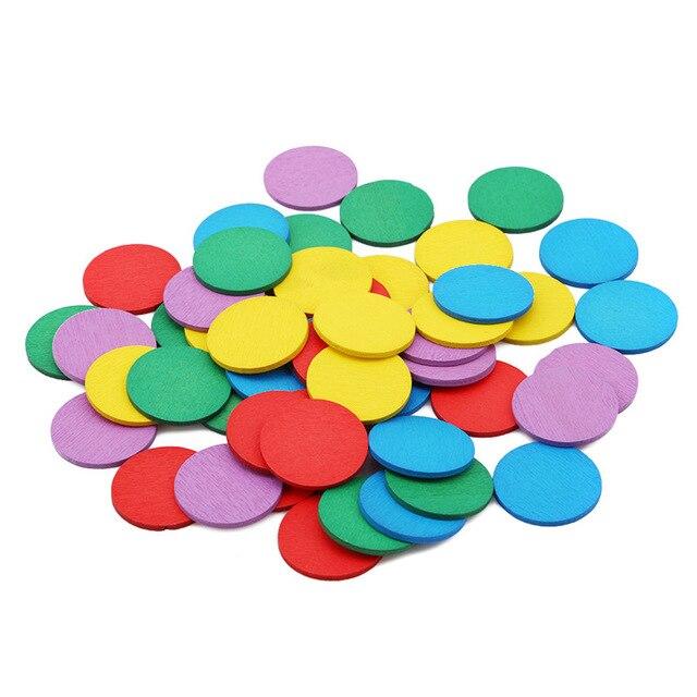 Детские математические круглые цветные деревянные игрушки для детей Монтессори, обучающая игрушка для детей, фигурка из арифметического