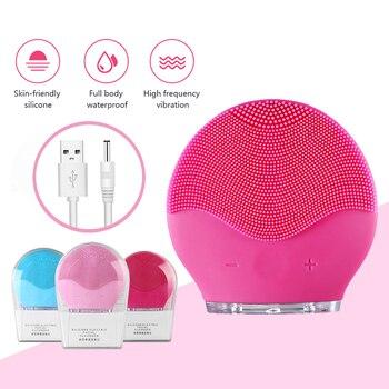 Limpiador Facial eléctrico con carga USB, cepillo de Limpieza Facial, resistente al...