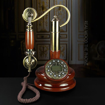 Antique Phone Candlestick Button Dial Telephone with Caller ID, FSK and DTMF, Retro Corded Phone Vintage Decorative Telephones