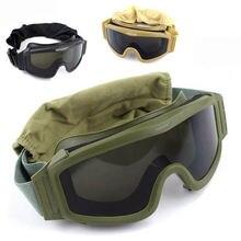 Тактические очки черного желтого и зеленого цвета военные солнцезащитные