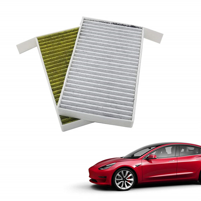 1PC Car Cabin Air Filter Replacement with Activated Carbon for Tesla Model 3 2017 2018 2019 Car Air Conditioning Filter PM 2.5 2