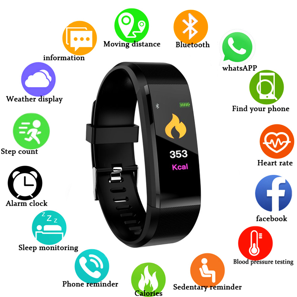 Smart Watch Men Women Heart Rate Monitor Blood Pressure Sleep Monitor Fitness Tracker Smartwatch Sport Watch For IOS Android