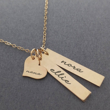 Personalized Custom Heart Long Bar Nameplate Pendant Necklace For Women Men Fashion Dainty Choker Chain Jewelry Wedding Gifts