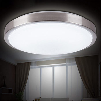 Светодиодный потолочный светильник для спальни, гостиной, поверхностного монтажа, белый, 35 см, 15 Вт