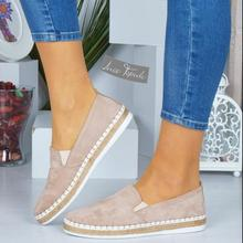 2019 new women flats shoes slip on loafers casual comfortable pure shoe woman round toe  wxx070