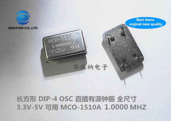 5pcs 100% New And Orginal MCO-1510A 1M 1MHZ 1.000MHZ Active DIP Crystal Oscillator DIP-4 OSC Full Size OSC