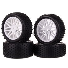 HSP 4P Wheel Hub Rim & Rubber Tire Tyre 88mm Front+Rear 06010 06026 For RC Car 1/10 Off Road Buggy HSP RedCat 94107 NEW ENRON