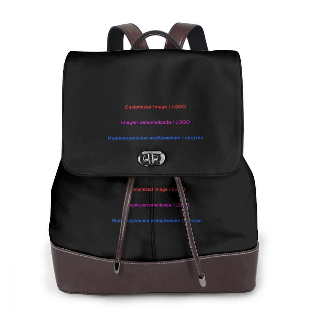 Image personnalisée/LOGO sac à dos en cuir pour femme une pièce impression personnalisée vous possédez une photo ou un LOGO sur les articles que vous aimez