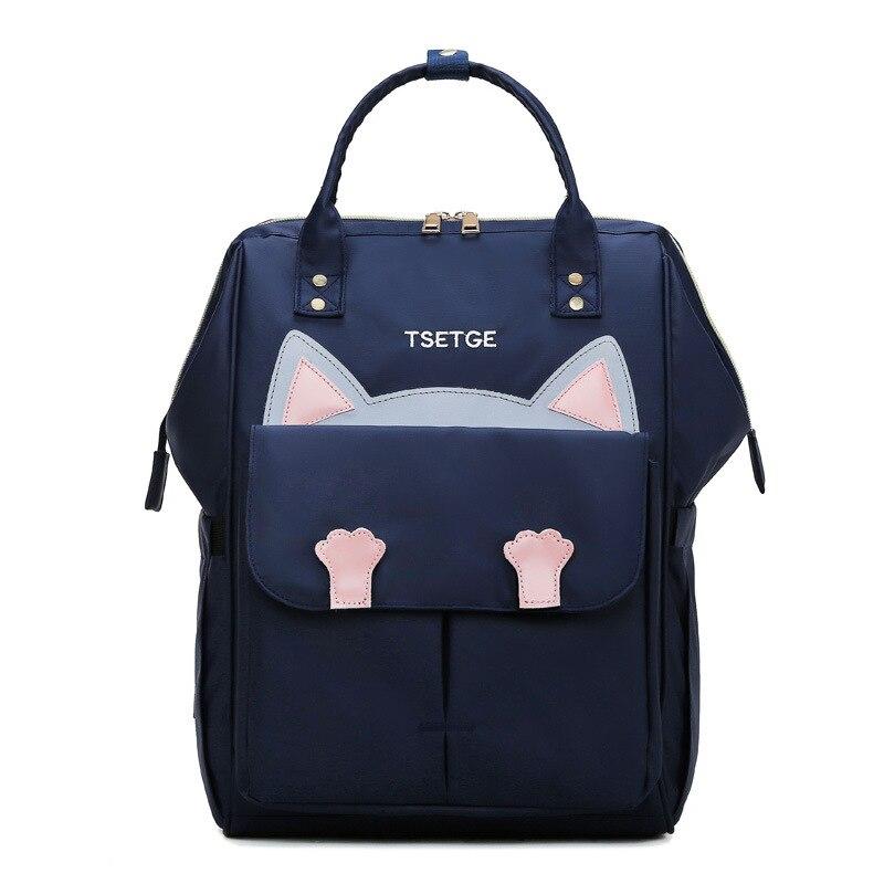 Sac à couches à la mode | Sac à main pour maman, sac à couches pour la maternité, sac de voyage à l'extérieur, sac de voyage pour les soins de bébé, joli design de chat, sac de chariot pour bébé