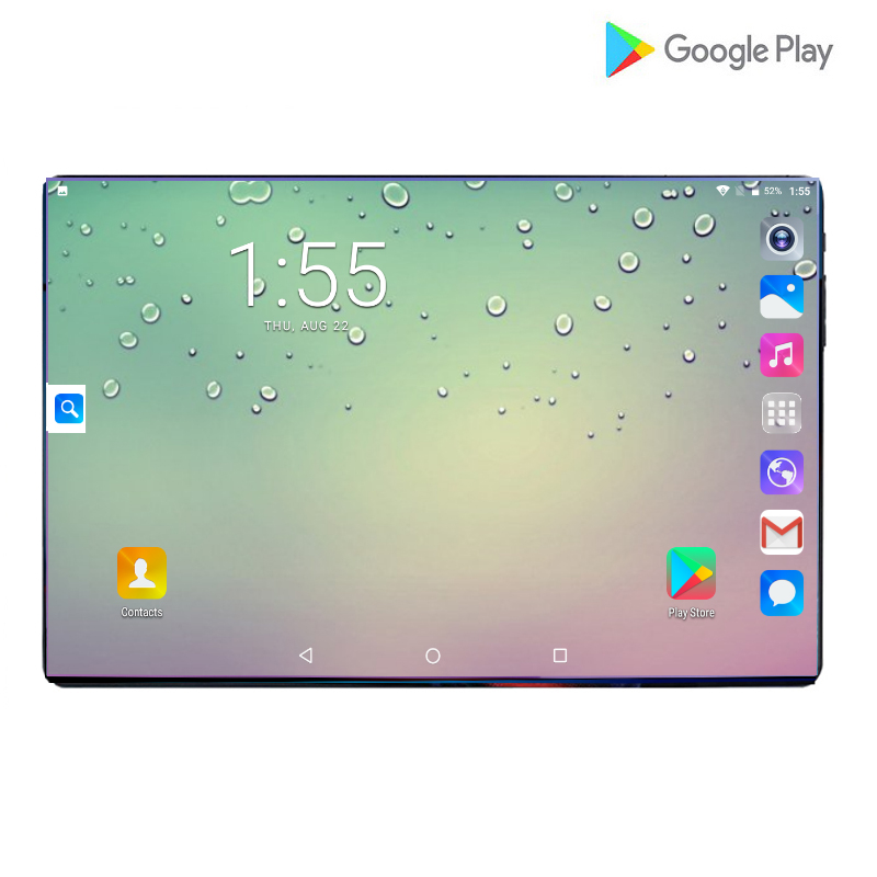 2019 New Hot 10 Inch Tablet PC Octa Core 6GB RAM 64GB ROM Dual SIM Unlocked 3G 4G LTE WiFi Bluetooth Android 9.0 Tablets 10.1