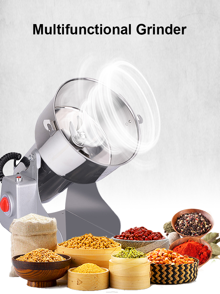 Powder-Crusher Mill Grinding-Machine Food-Grinder Spices Grains Coffee Home-Flour Cereals