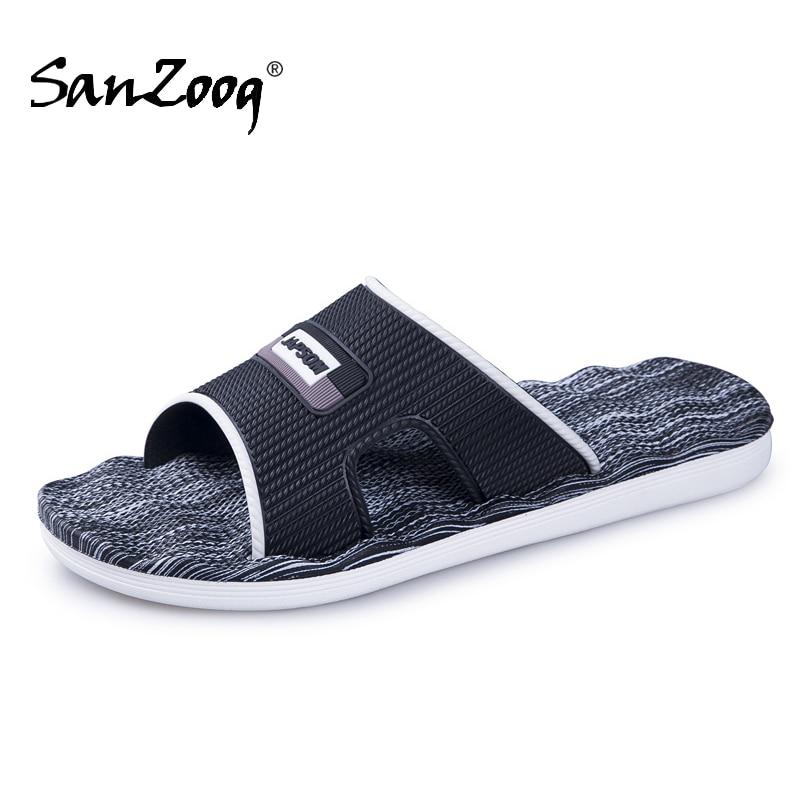 New Mens Slippers Indoor Nice Non-Slip Home Bathroom Slippers For Man Woman Unisex Massage Badslippers Summer Beach Slides Men(China)