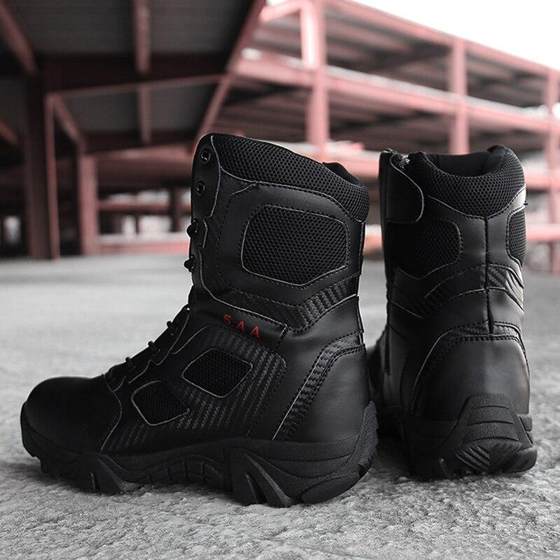 Bottines militaires tactiques pour hommes chaussures de randonnée