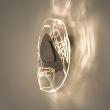 Light luxury atmospheric crystal wall lamp post modern minimalist hotel living room bedroom creative art wall light